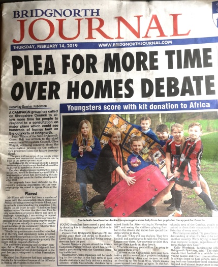 Bridgnorth Journal Headline 13 feb