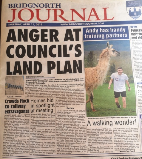 Bridgnorth Journal front page 10th April 2019.jpg