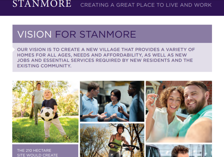 Stanmore great place to live and work